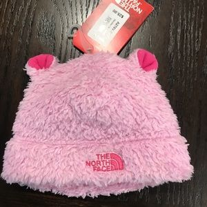 40aad44dc NWT The North Face baby bear beanie pink xs NWT